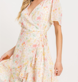 Lush Rooftop Garden Party Wrap Dress