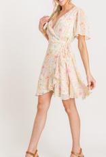 Lush Garden Party Wrap Dress