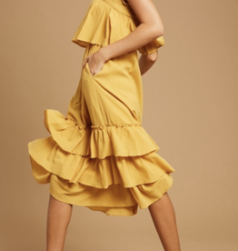 Listicle Pocket Full of Sunshine Midi Dress