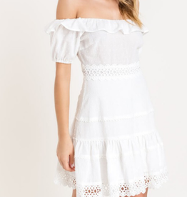 Lush No Way Crochet Dress