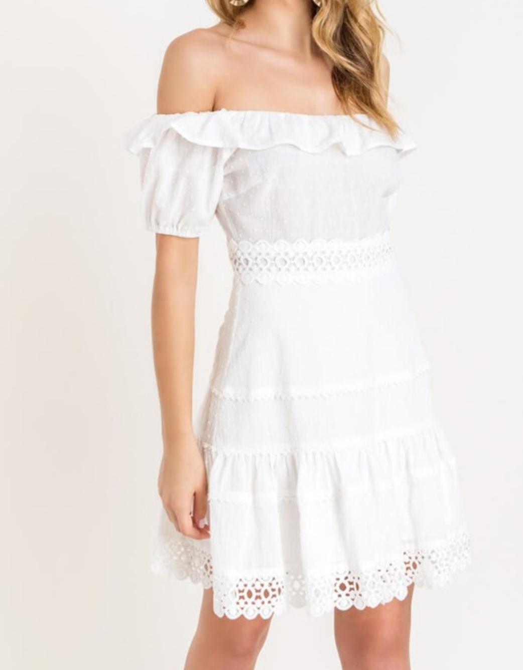 Lush No Way Crochet Dress