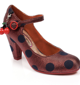 Irregular Choice Irregular Choice - The Right Stripe Polka Dot Pumps