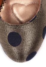 Irregular Choice Irregular Choice - The Right Stripe Polka Dot Pumps Gold