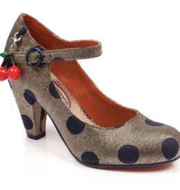 Irregular Choice Irregular Choice - The Right Stripe Polka Dot Pumps Gold