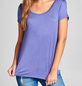 Active Basic Short Sleeve Scoop Neck Top