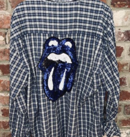 Sojara Rolling Stones Tounge SoJara Flannel