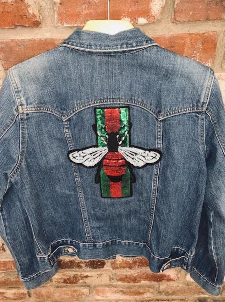 Sojara Gucci Bee SoJara Denim Jacket