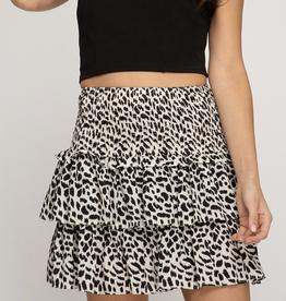 She & Sky Leopard Punk Skirt