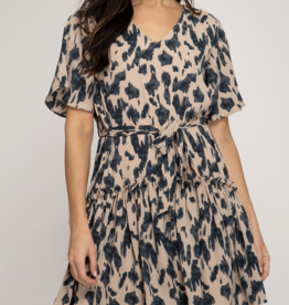 She & Sky Leopard Dreams Dress