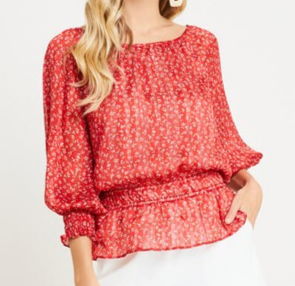 Lush Peasant Perfect Top