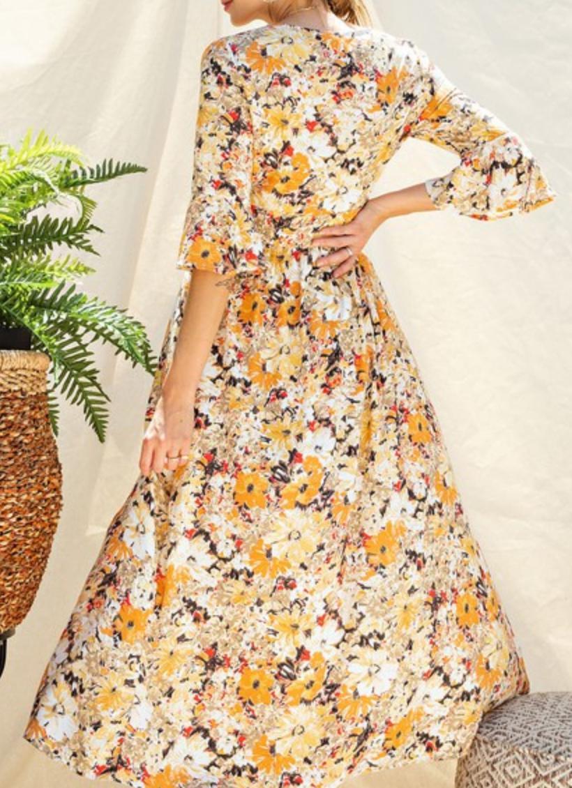 Easel Plant Keep Away Maxi Dress/ Romper
