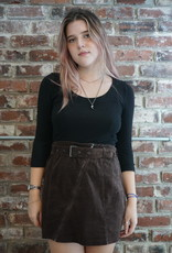 Le Lis Belted Corduroy Skirt
