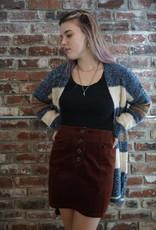 Hem & Thread Wide Pocket Corduroy Skirt