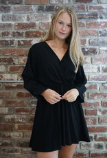 Twist Cinched Accent Swing Dress