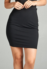 Active Basic Fitted Mini Skirt with Zipper