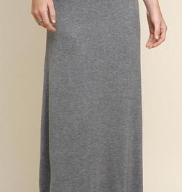 Fold Over Waist Maxi Skirt