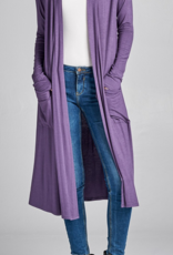 Active Basic Midi Length Long Sleeve Cardigan