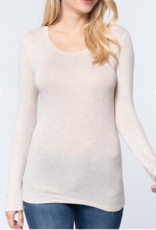 Active Basic Long Sleeve Round Neck Top