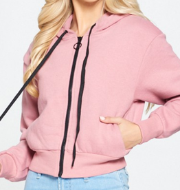C'est Toi Think Pink Zip Up Hoodie