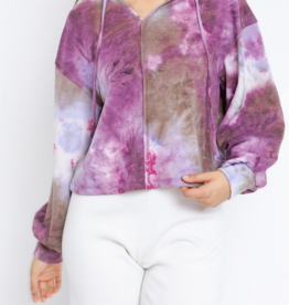 Le Lis Berry Pretty Pullover Hoodie