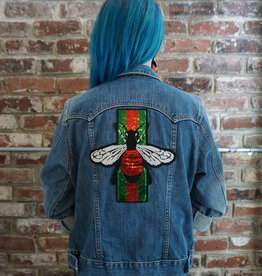 Sojara Gucci Bee SoJara Denim Jacket