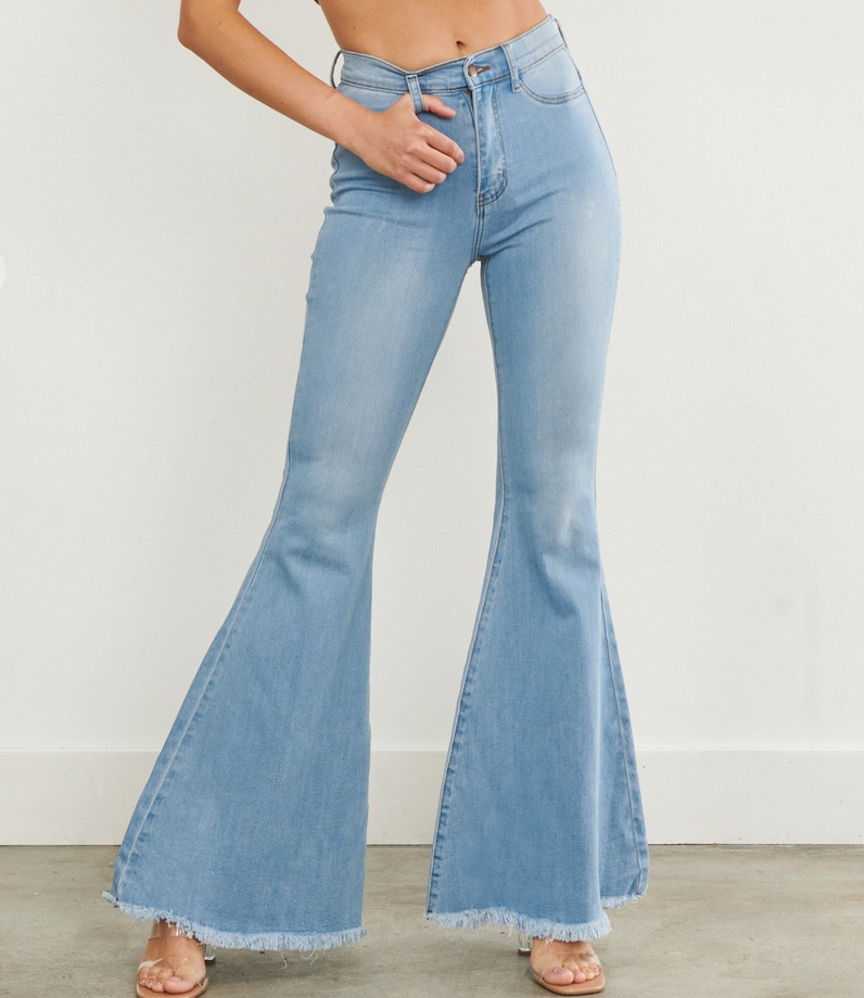 Vibrant Cut To The Chase Flare Jeans