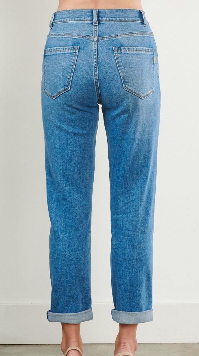 Vibrant Knees Weak Mom Jeans