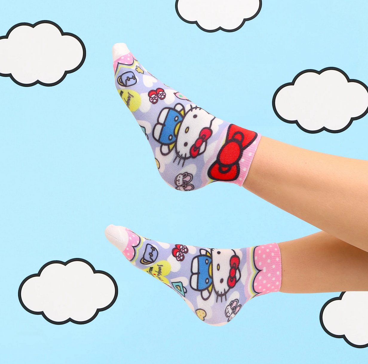 Irregular Choice Irregular Choice - Special Smile Socks - Hello Kitty and Friends