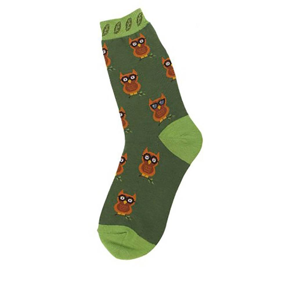 Foot Traffic All Over Owl Women's Socks