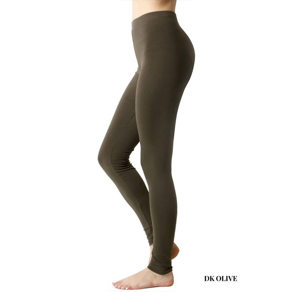 Zenana Cotton Ankle Leggings