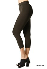 Zenana Cotton Capri Leggings