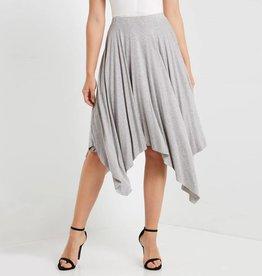 MaiTai Solid Uneven Hem Skirt