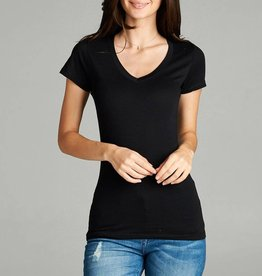 Active Basic V-Neck Basic Short Sleeve Tee