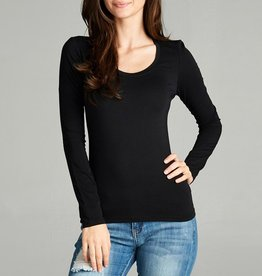 Active Basic Scoopneck Basic Long Sleeve Tee