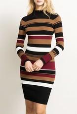 3b224588a51 Hem   Thread Variable Stripe Mock Neck Bodycon Midi Dress - Virtue ...