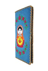 Lavishy Russian Doll Embroidered Large Wallet
