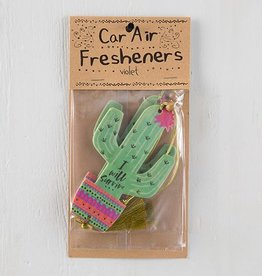 "Natural Life Air Freshener ""I Will Survive"" Cactus"