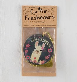 "Natural Life Air Freshener ""Live Happy"" Llama"