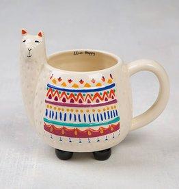 Natural Life Llama Folk Art Mug