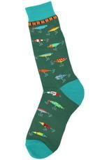 Foot Traffic Fishing Lure Men's Socks