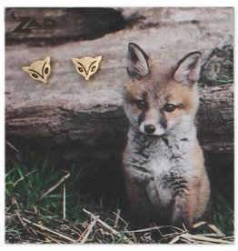 ZAD Fox Face Post Earrings