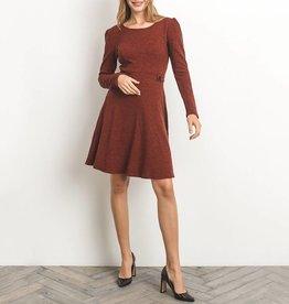 Gilli Textured Marled Knit Fit & Flare Dress