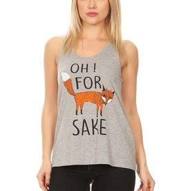 Bear Dance Oh for Fox Sake Tank