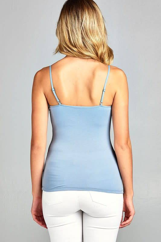Active Basic Basic Short Cami With Shelf Bra