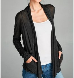 Active Basic Basic Flowy Cardigan- With Pockets!