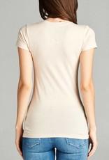 Active Basic V-Neck Basic Short Sleeve Tee