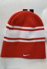 Nike NIKE SWOOSH STRIPE BEANIE RED