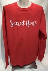 Comfort Colors SACRED HEART SCRIPT LS
