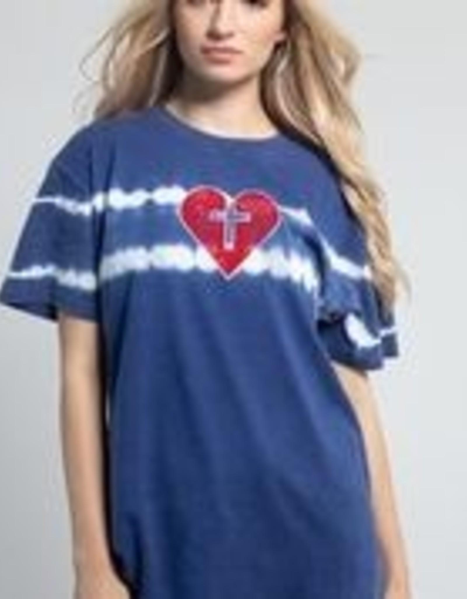TIE DYE HEART TEE
