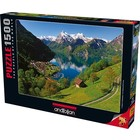Anatolian . ANA Lake Lucerne Switzerland 1500pc Puzzle